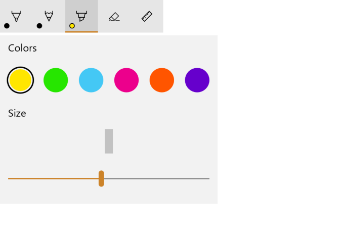 Using InkToolbar and InkCanvas with the Universal Windows