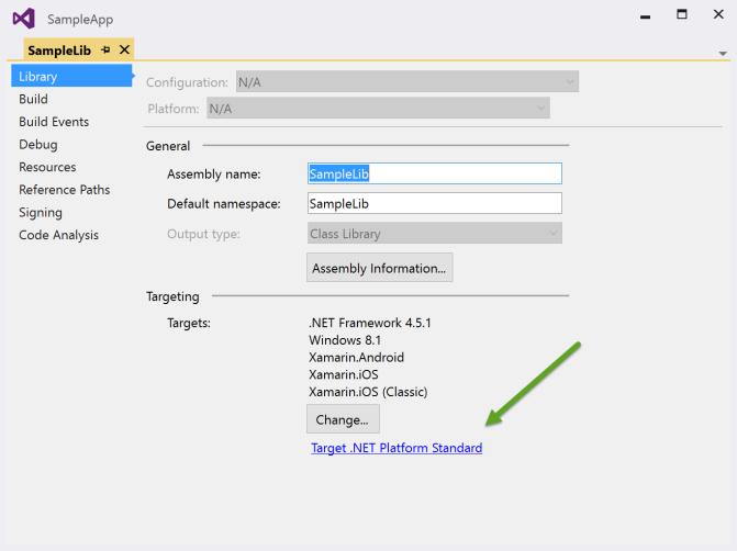 Targeting .NET Platform Standard