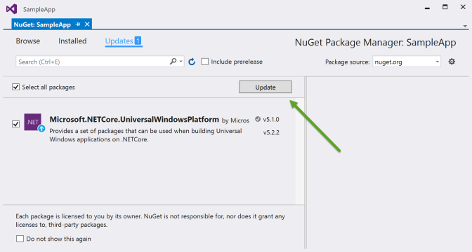 Update NuGet Package