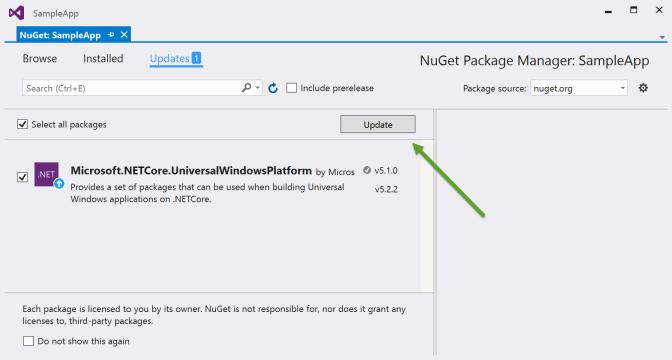 Update NuGet Package