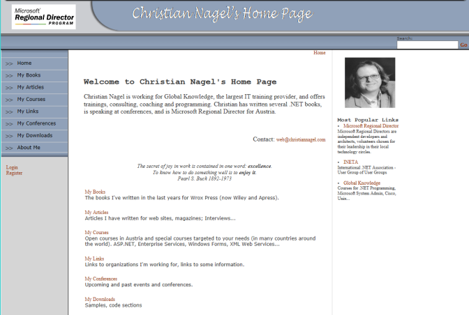Website in 2003
