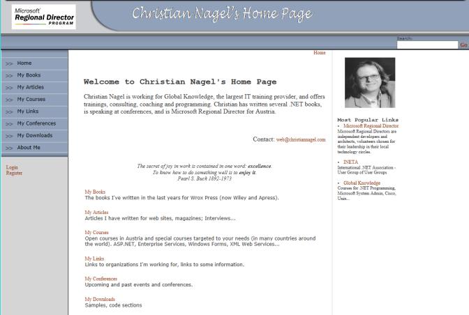 Website in 2003