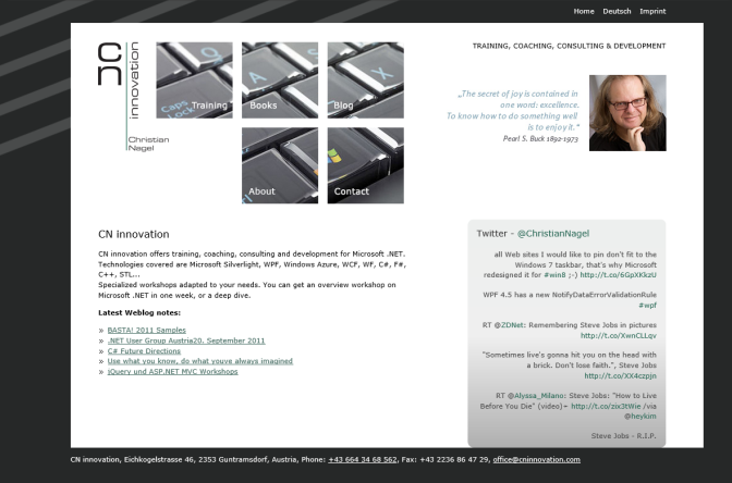 Website in 2011
