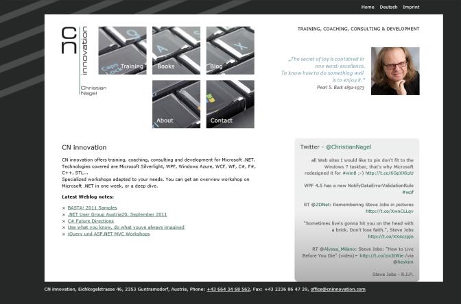 Website in 2011