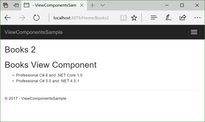 View Component with Component.InvokeAsync