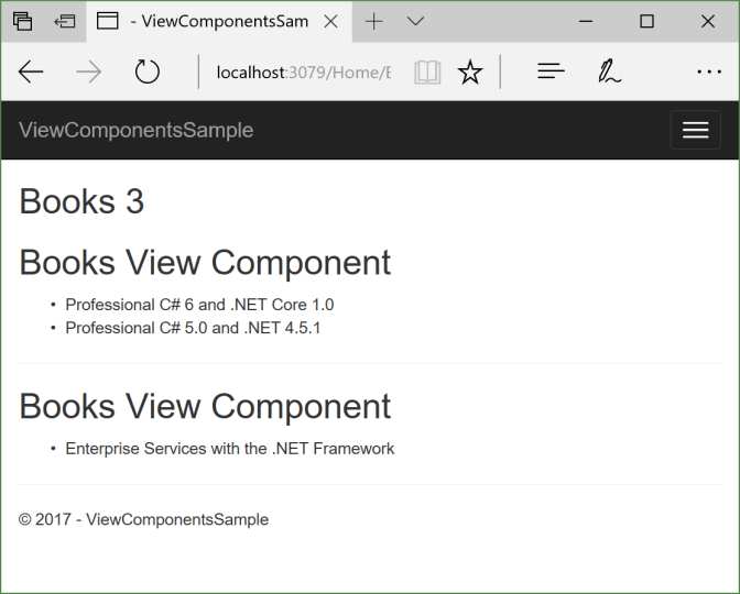 View Component with Tag Helper