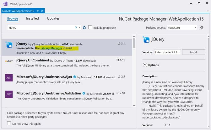 NuGet - Library Manager