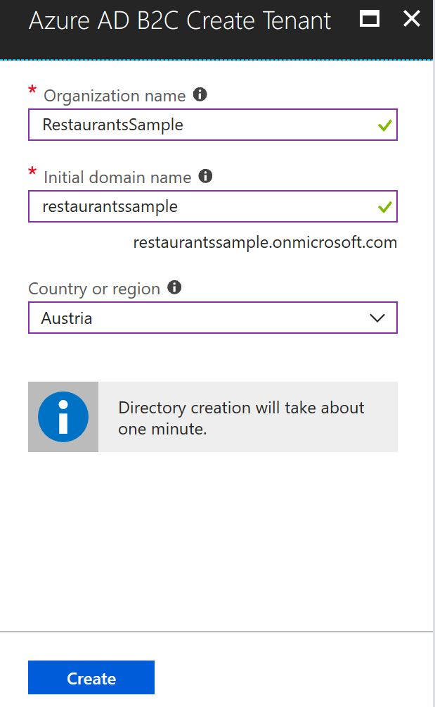 Configure the Azure Active Directory B2C Tenant