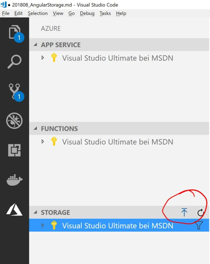 Upload files using Visual Studio Code