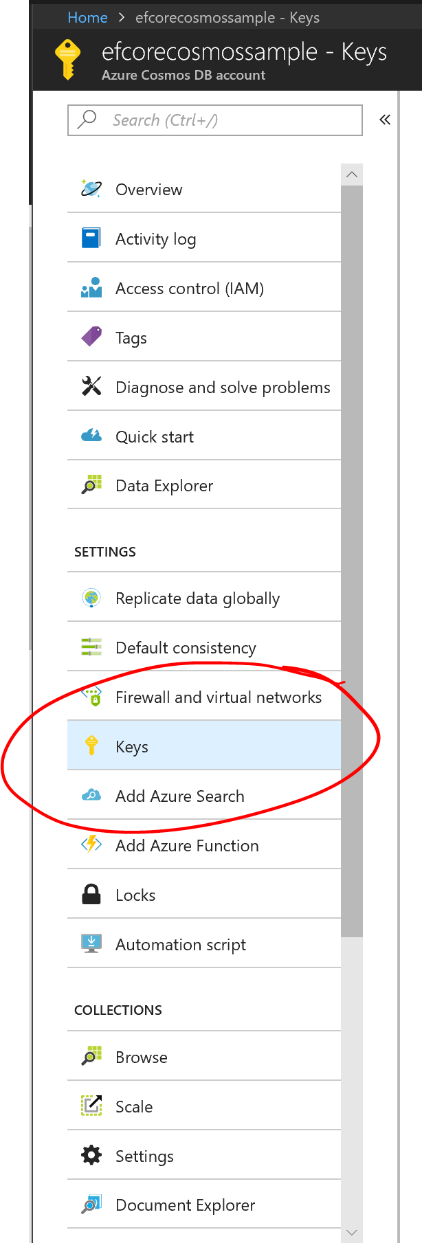 First experiments using EF Core with Azure Cosmos DB – csharp