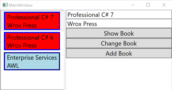 WPF App with Book Templates
